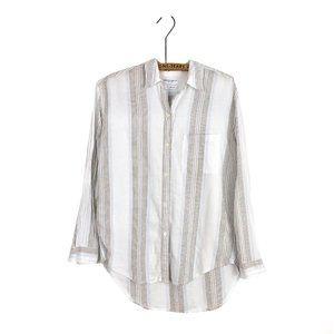 Aritzia Community Button Up Flannel Top